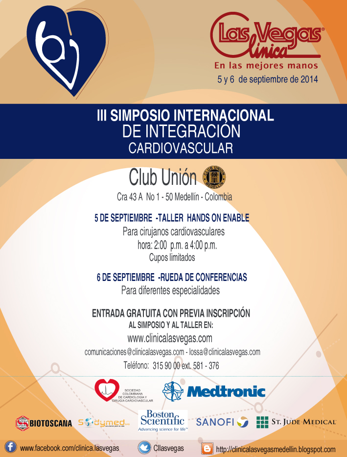 III Simposio Internacional de Integración Cardiovascular   @ Club Unión Medellin