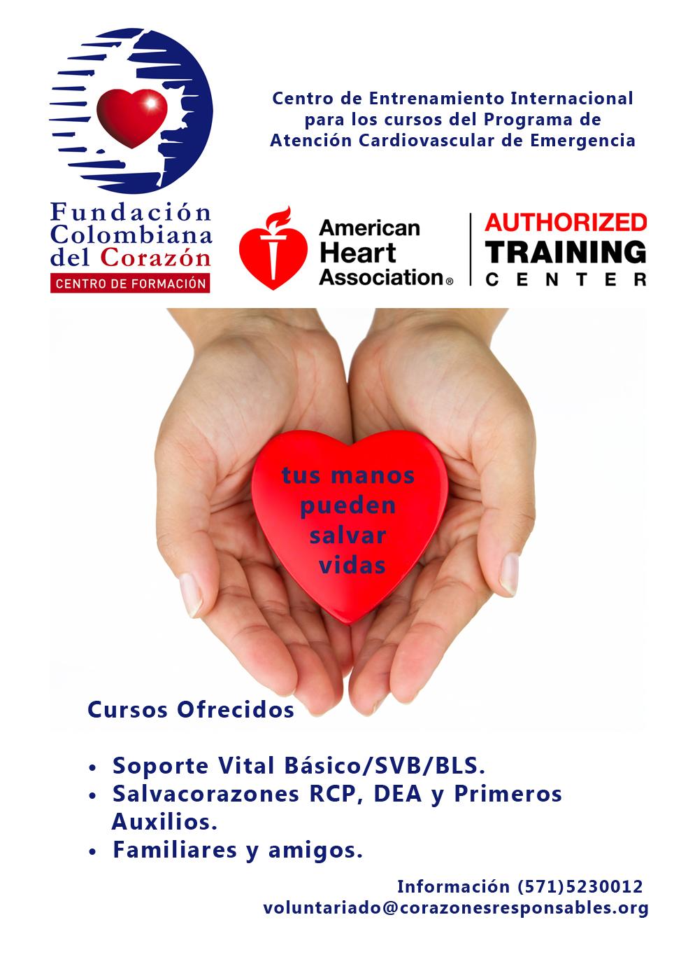 1Centro de Entrenamiento Internacional para los cursos del programa de Atención Cardiovascular de Emergencia