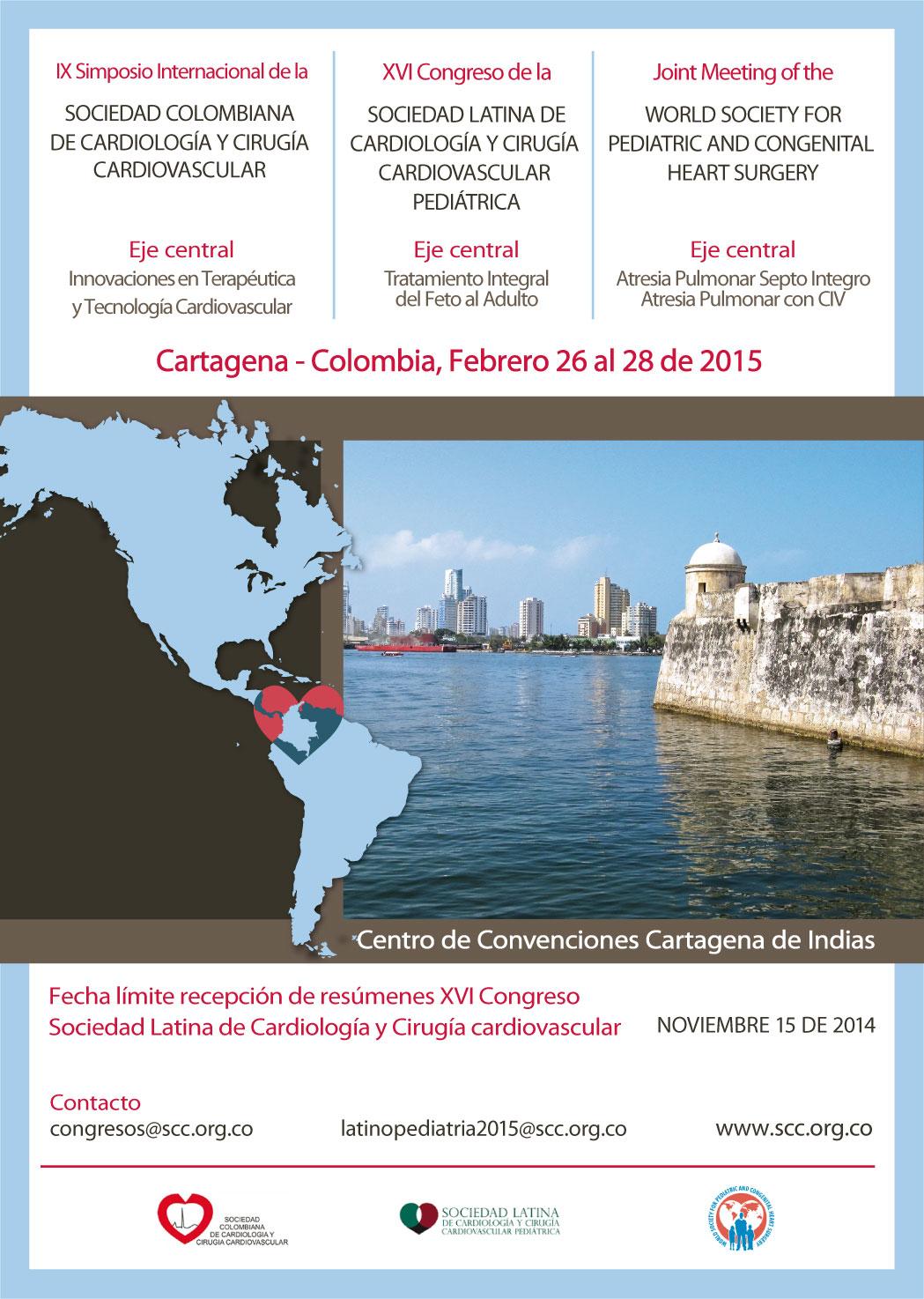 IX Simposio Internacional de la Sociedad Colombiana de Cardiología y Cirugía Cardiovascular  @ Cartagena - Colombia Febrero 26-27-28 de 2015