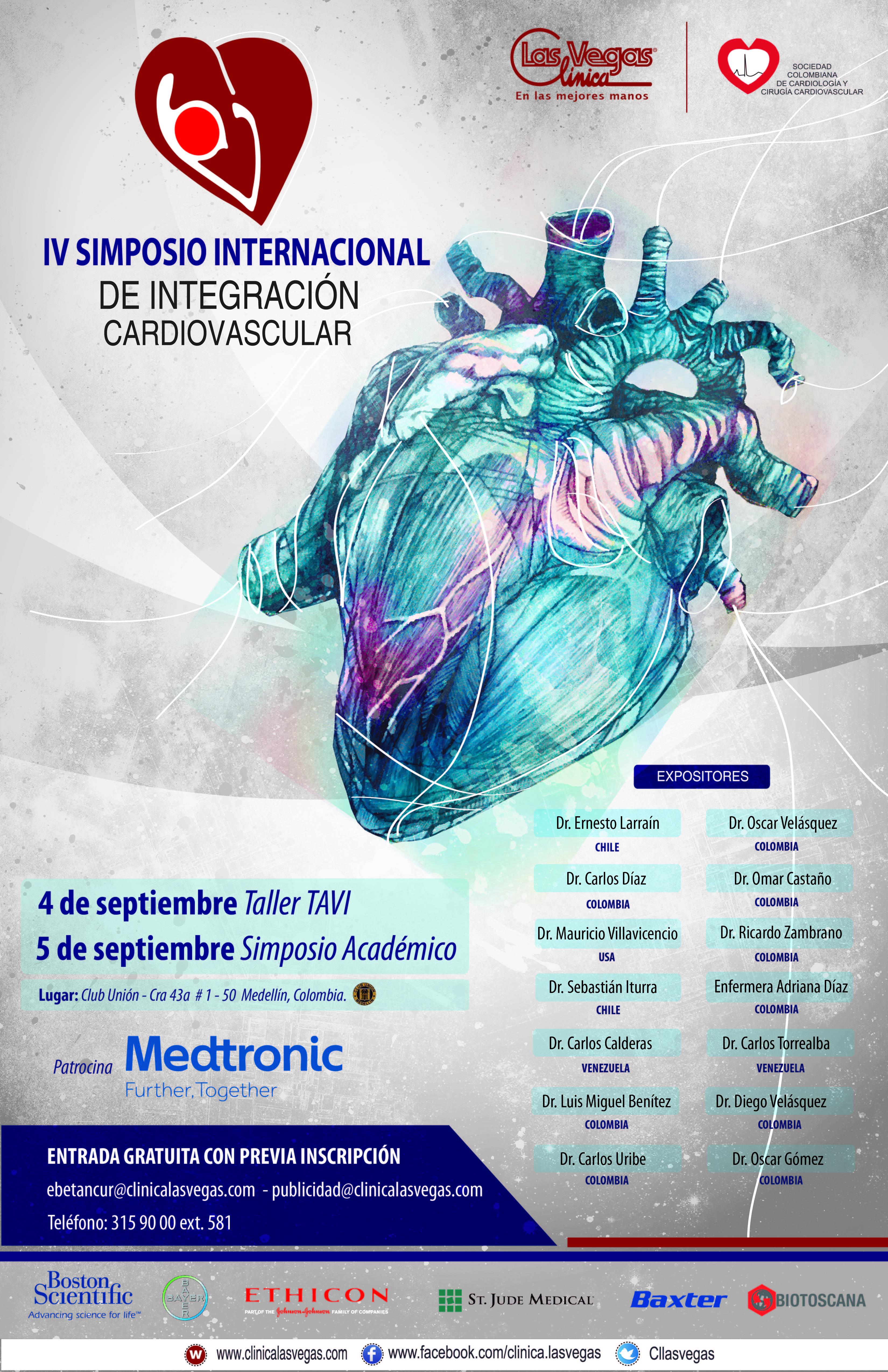 IV Simposio Internacional de Integración Cardiovascular @ Club Unión,Medellín, Colombia / Septiembre 4 y 5 de 2015