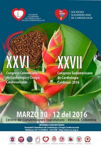 XXVI Congreso Colombiano de Cardiologia y Cirugía Cardiovascular  @ Pereira / Colombia / Marzo 10 al 12 de 2016