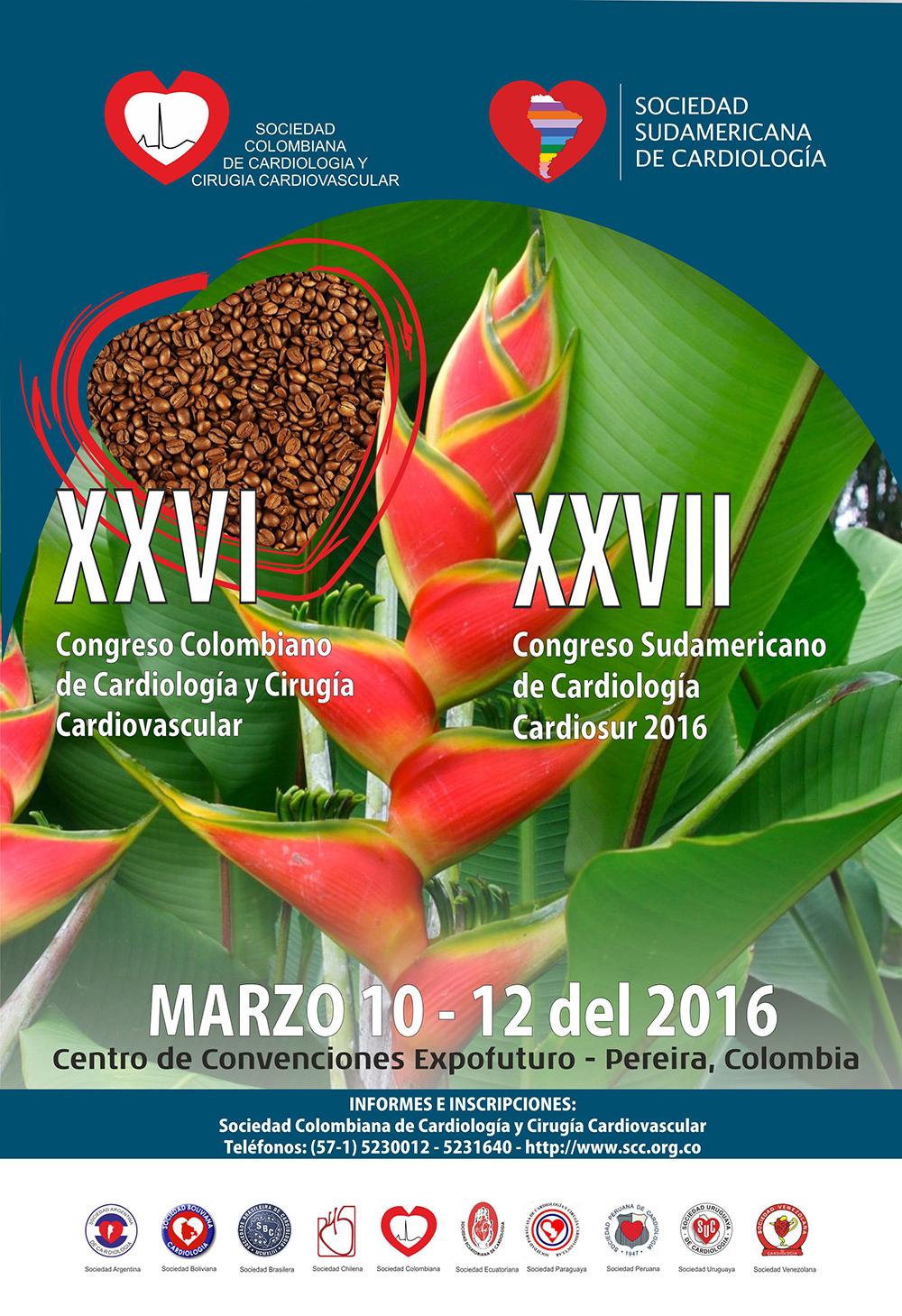 XXVI Congreso Colombiano de Cardiología y Cirugía Cardiovascular – XXVII Congreso Sudamericano de Cardiología Cardiosur 2016