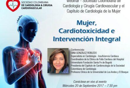 Webinar Mujer, Cardiotoxicidad e intervención integral