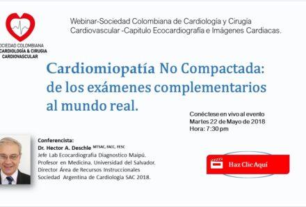 Webinar: CARDIOPATÍA NO COMPACTADA DE LOS EXÁMENES COMPLEMENTARIOS AL MUNDO REAL.