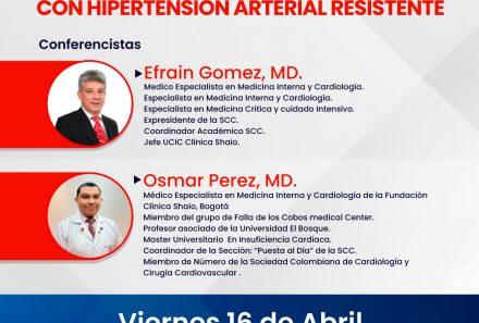 Live Webinar – Caso 1: Como abordar el paciente con Hipertensión Arterial resistente