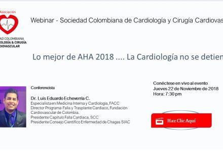 Webinar SCC: Lo mejor de la AHA 2018… La Cardiología no se detiene!