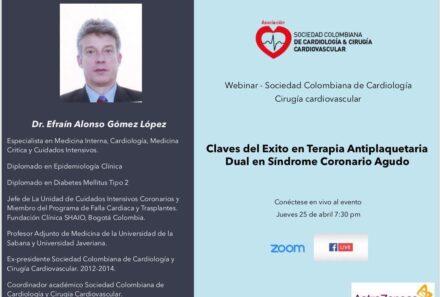 Webinar: Claves del éxito en terapia antiplaquetaria dual en síndrome coronario agudo