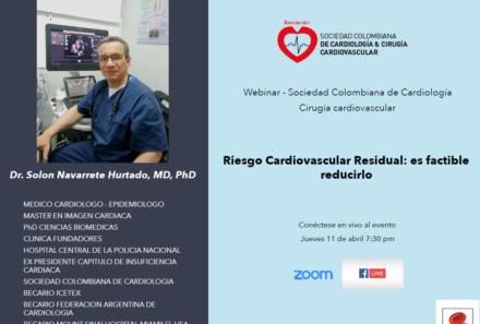 Webinar: Riesgo cardiovascular residual: Es factible reducirlo