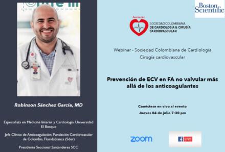 Webinar SCC: Prevención de ECV en FA no valvular más allá de los anticoagulantes