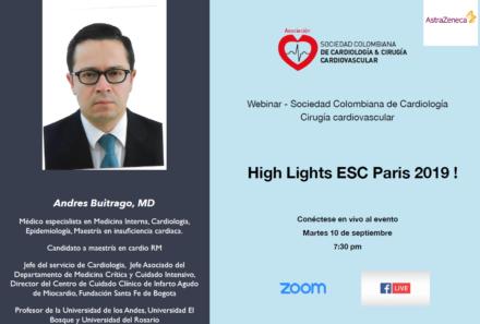 Webinar SCC: High Light ESC Paris 2019