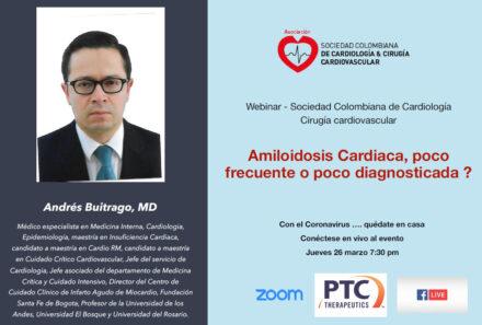 Webinar SCC:Amiloidosis cardíaca: Poco frecuente o poco diagnosticada?