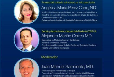 Webinar SCC: El desafío del ejercicio y nutrición en pandemia