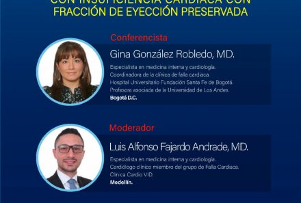 Live Webinar – Consejos para abordaje de pacientes con Insuficiencia Cardiaca con Fracción de Eyección Preserva